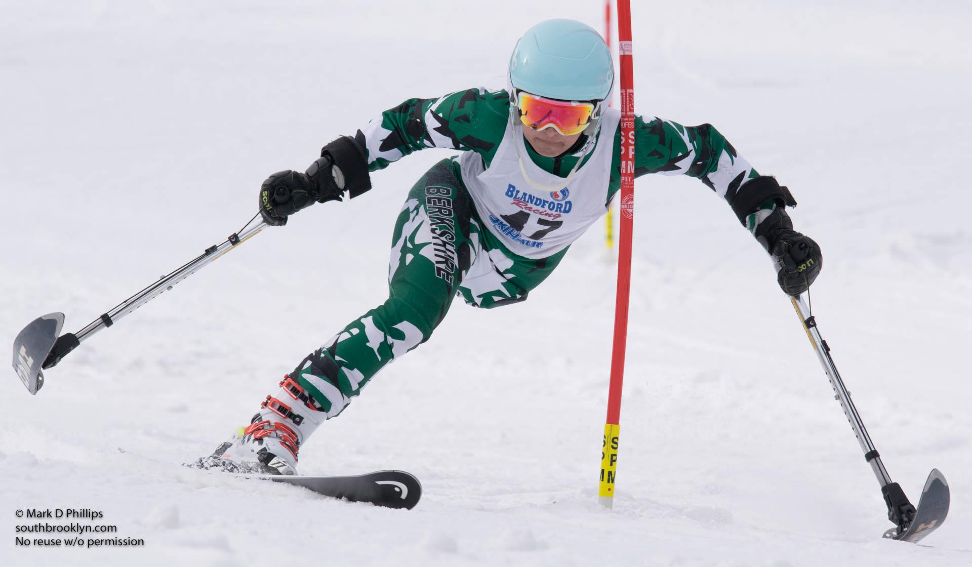 Insha Afsar of BSST at U19 Race at Blandford Ski Area on January 30, 2016