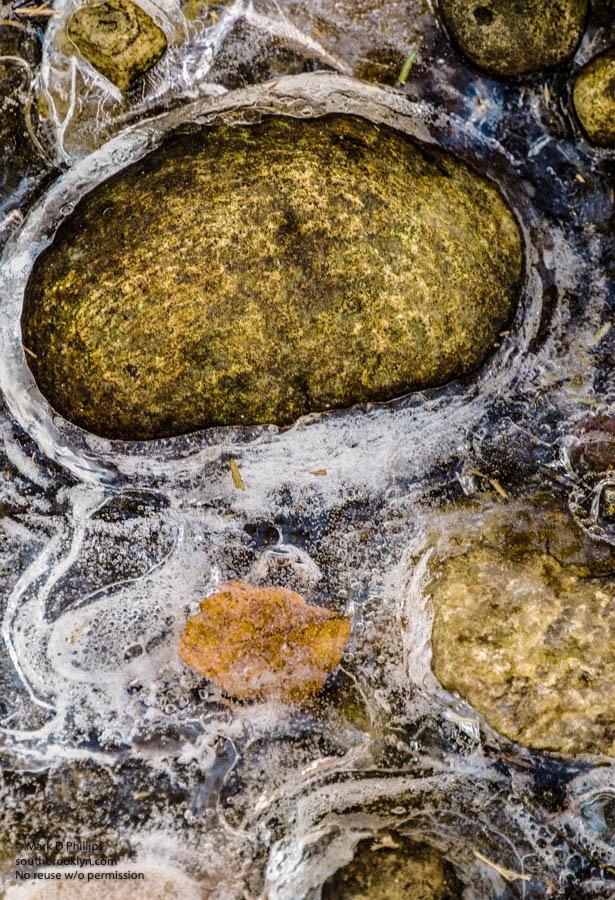 Rocks in ice