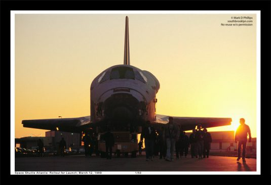 Space Shuttle Atlantis 13 x 19 Fine Art Print by Mark D Phillips