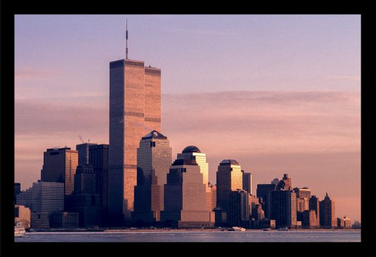©Mark D Phillips; Lower Manhattan from this angle on a New Jersey ferry gives a scale of the overwhelming size of the Twin Towers