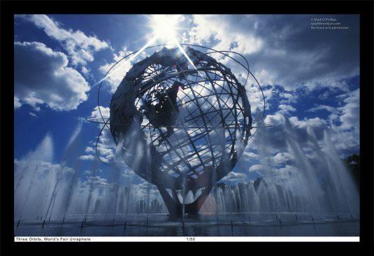 13 x 19 Framed Print, ©Mark D Phillips; The Unisphere in Corona Park, New York City, built for the 1964 World's Fair denotes the three orbits by John Glenn on February 20, 1962.